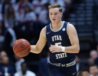 Mountain West Tournament: Sam Merrill Leads #2 Utah State Past #7 New Mexico, 75-70