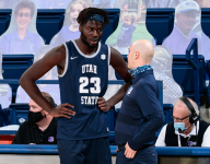 2021 Mountain West Conference Tournament: Utah State takes down UNLV 74-53 in the Quarterfinals on Thursday night.