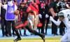 Nov 14, 2020; Carson, California, USA; San Diego State Aztecs quarterback Lucas Johnson (7) runs the ball against the Hawaii Warriors during the second half at Dignity Health Sports Park. Mandatory Credit: Gary A. Vasquez-USA TODAY Sports